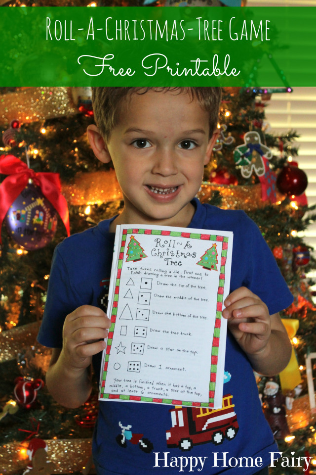 roll a christmas tree game free printable at happyhomefairy love this - Home Free Christmas