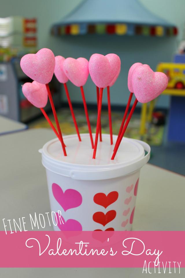 easy fine motor valentine's day activity at happyhomefairy.com