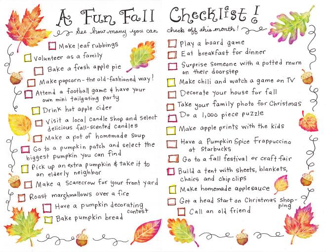 Fall Checklist