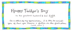 A Father's Day Printable – From the Wife