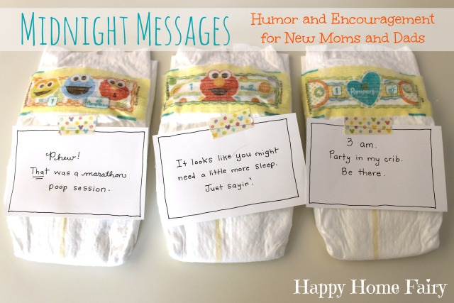 Midnight Messages - FREE Printable notes with hilarious quotes from baby for the middle of the night diaper changes. This would make the PERFECT baby shower gift!.jpg