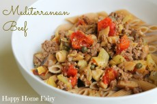 Recipe – Mediterranean Beef and Pasta