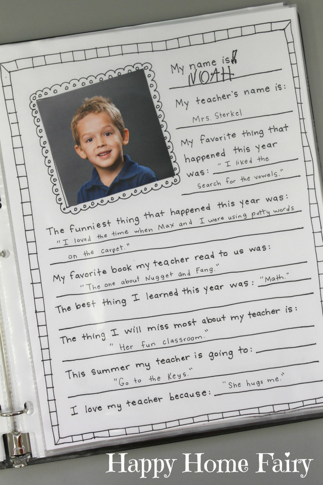 memory book for teachers 3