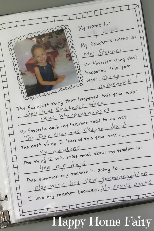 memory book for teachers 4