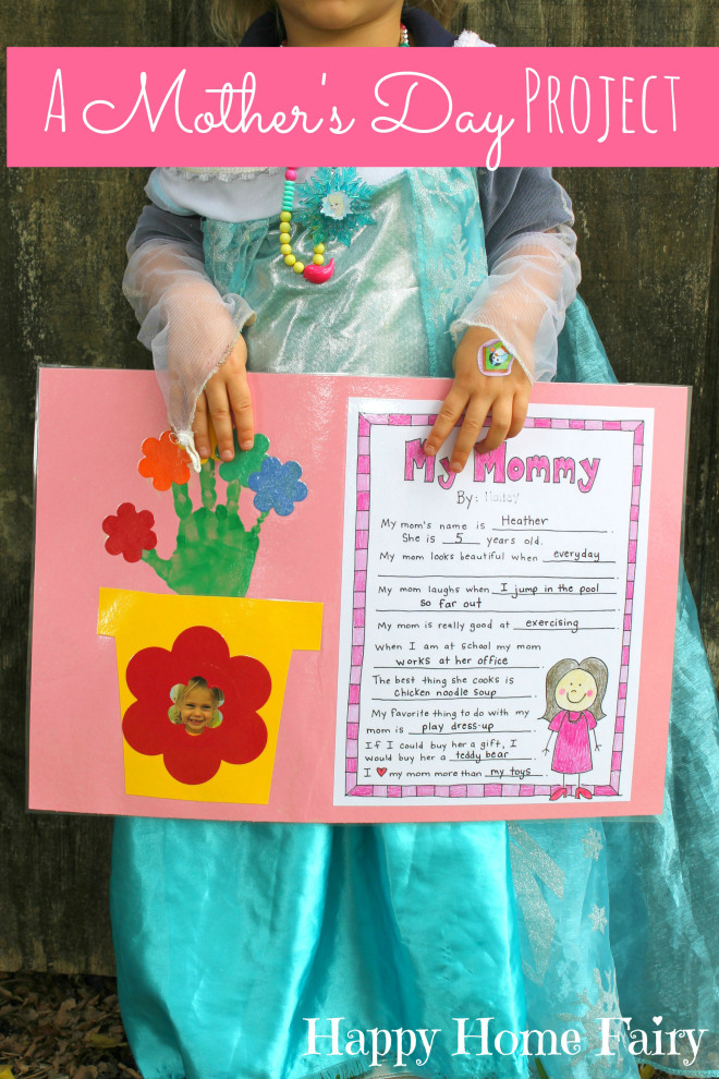photo regarding Free Printable Mothers Day Crafts titled A Moms Working day Undertaking - Absolutely free Printable! - Pleased Property Fairy