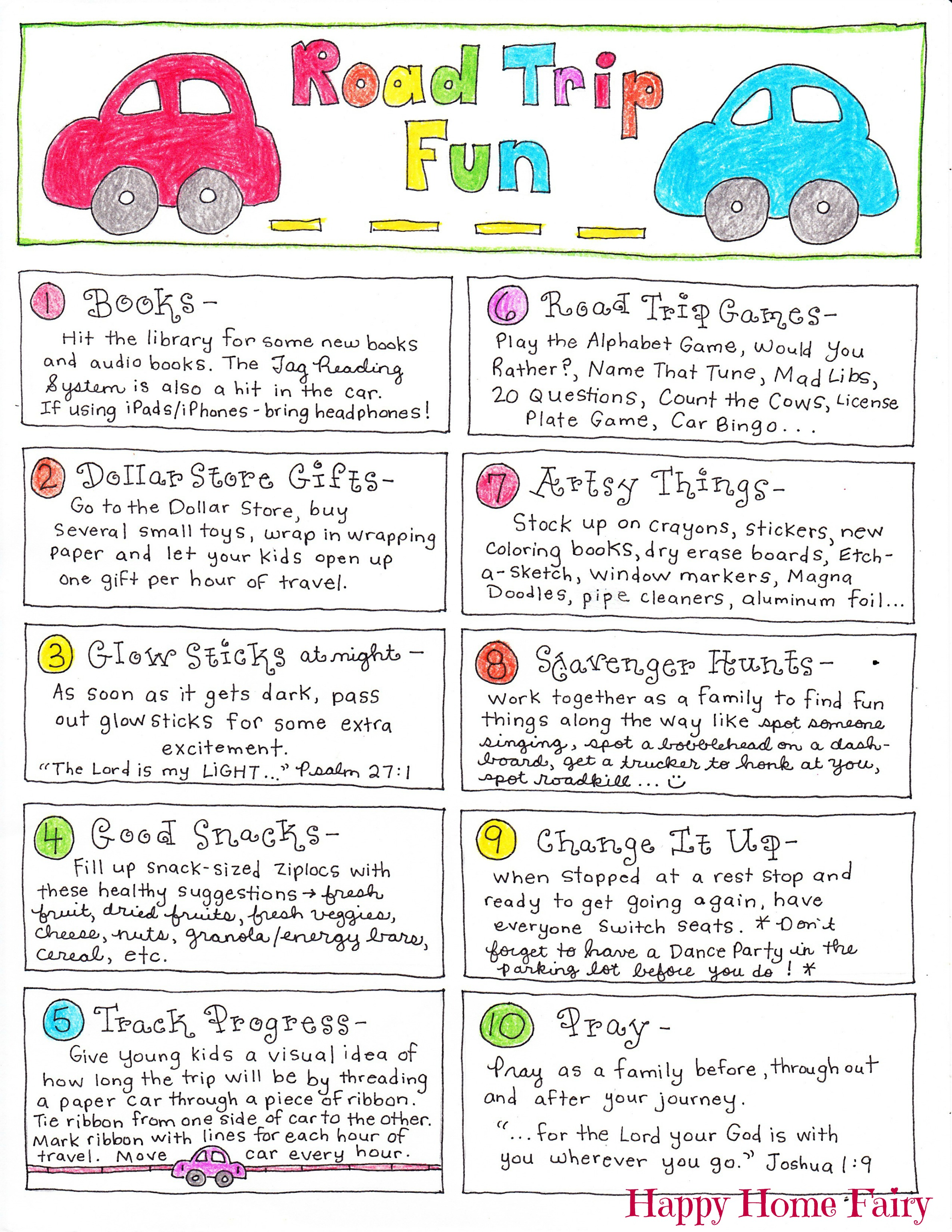 Road Trip Tips Happy Home Fairy