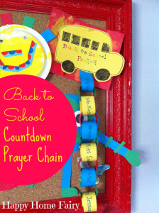 back to school countdown prayer chain! have your child list several people at hisher school that you can pray for every day leading up to the first day of school!