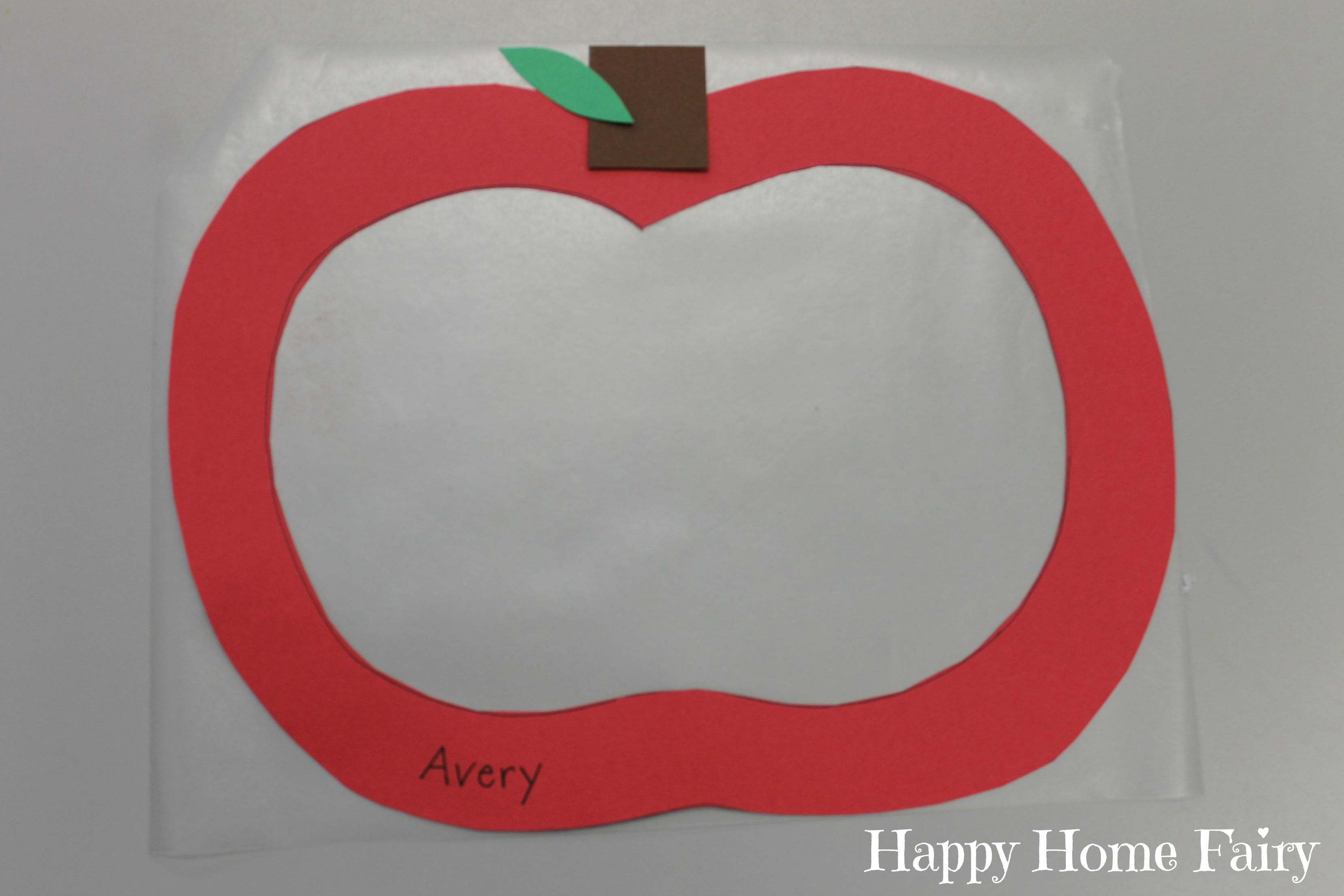 Apple Stained Glass Window Craft 4