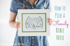 How to Pick a Family Bible Verse – GIVEAWAY!