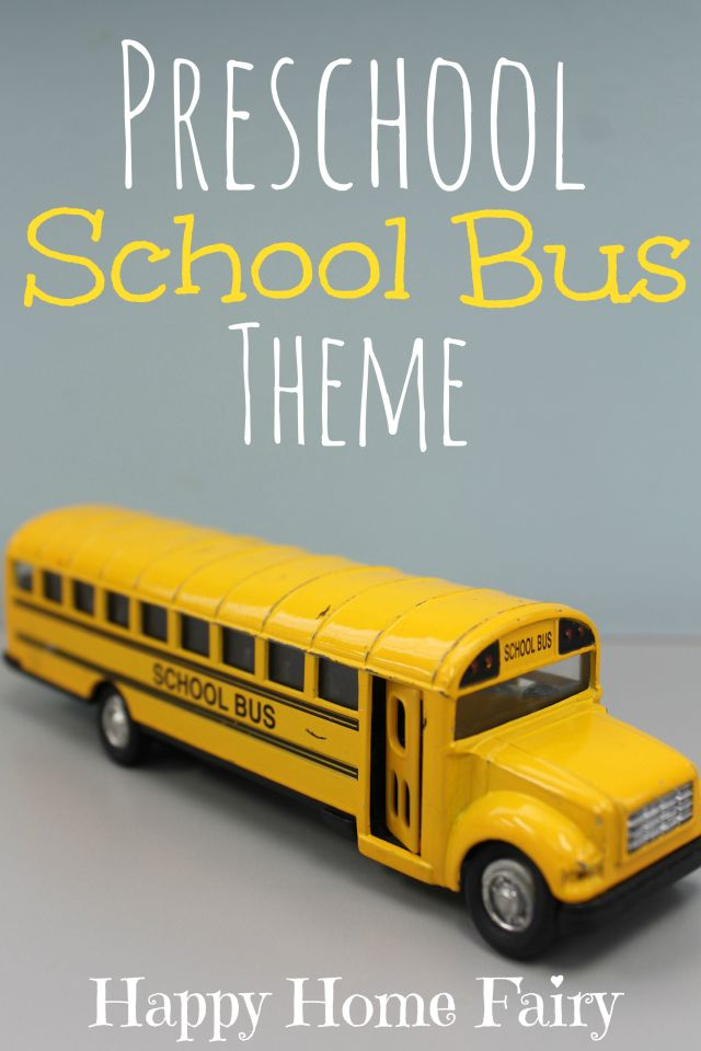 Preschool School Bus Theme - so many cute activities, crafts, and fun for the first few weeks of school!