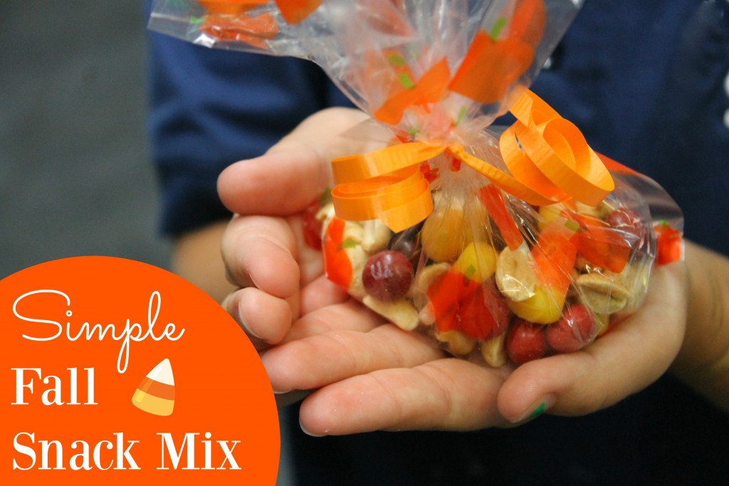Simple Fall Snack Mix - ONLY # INGREDIENTS! Perfect to take to parties and fall events!