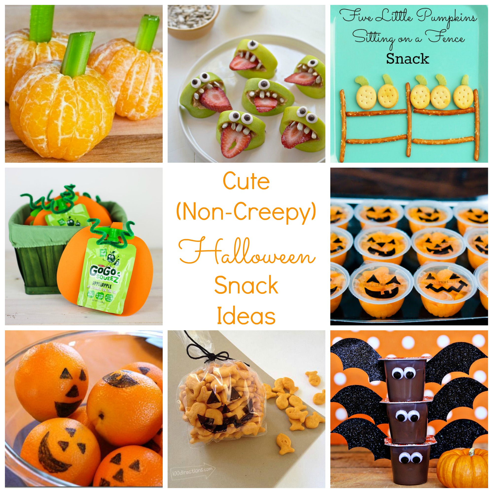 Cute Non Creepy Halloween And Fall Snack Ideas