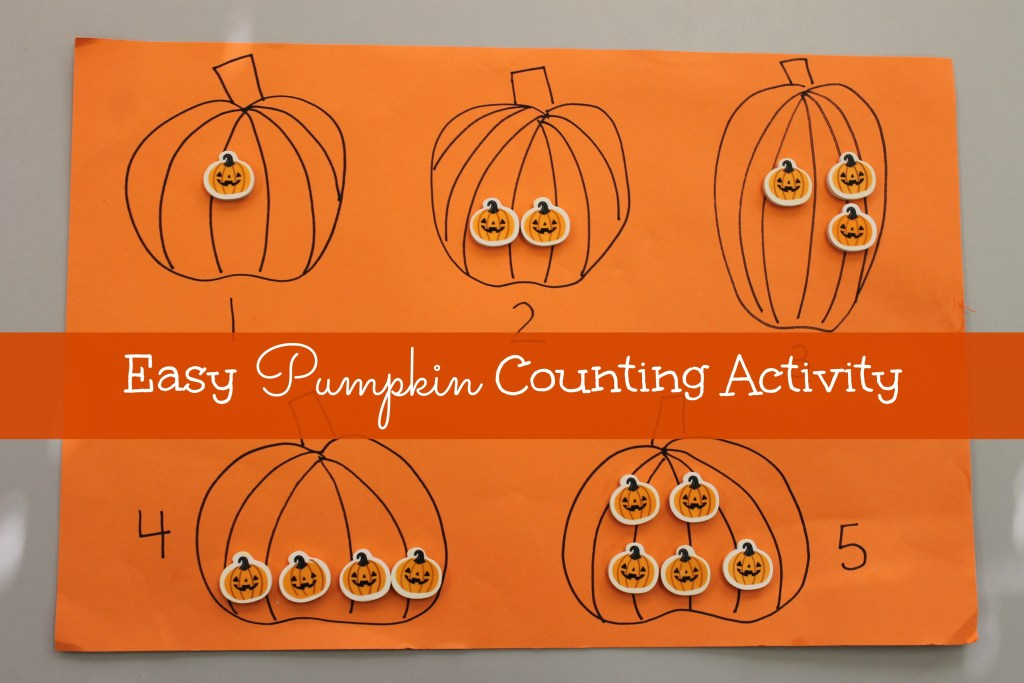 easy counting pumpkin activity