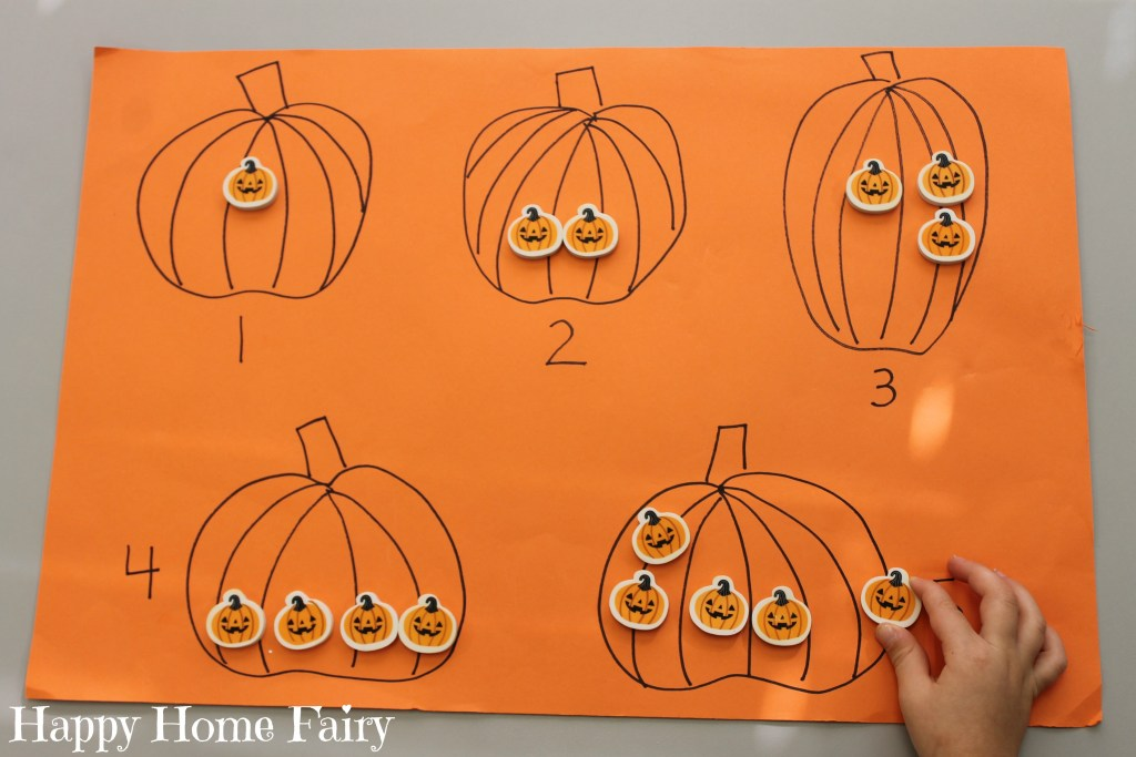 easy counting pumpkin activity 4