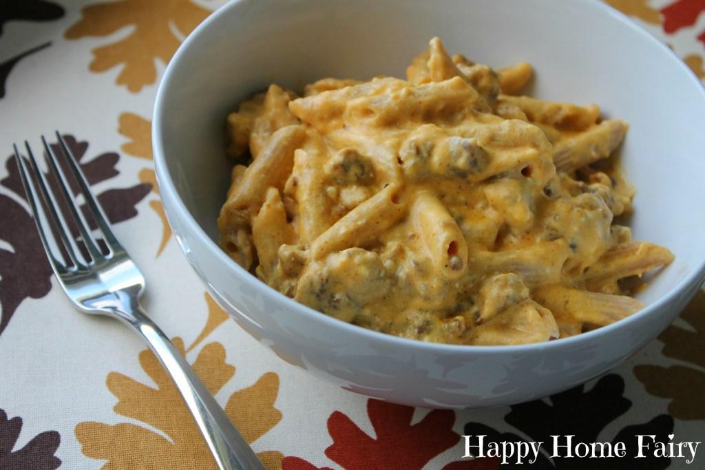pumpkin sausage pasta 1