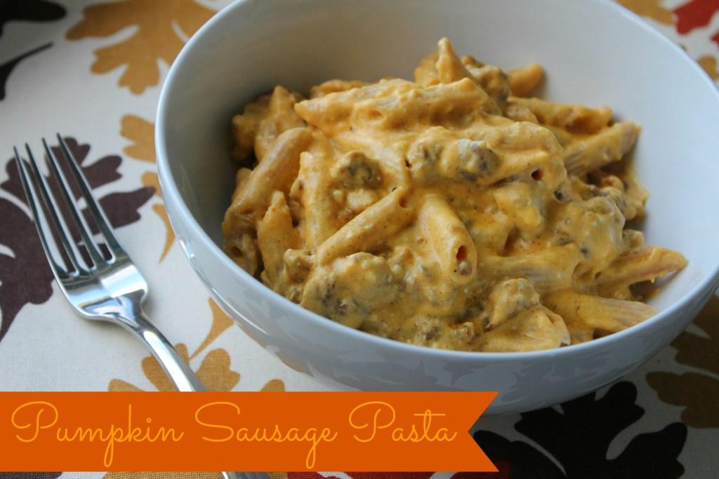 pumpkin sausage pasta
