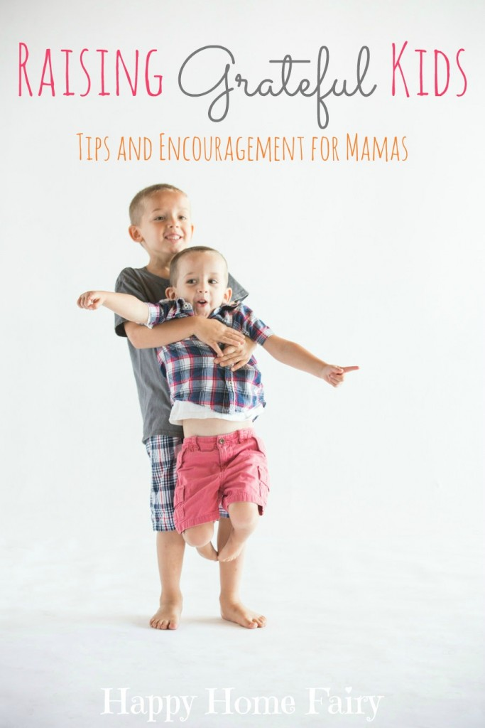 Raising Grateful Kids - 5 simple and easy ways to encourage your kids toward a grateful heart. Love this encouragement!