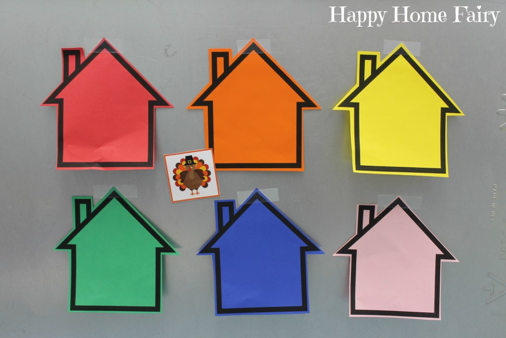Simple Thanksgiving Color Game at Happy Home Fairy 1