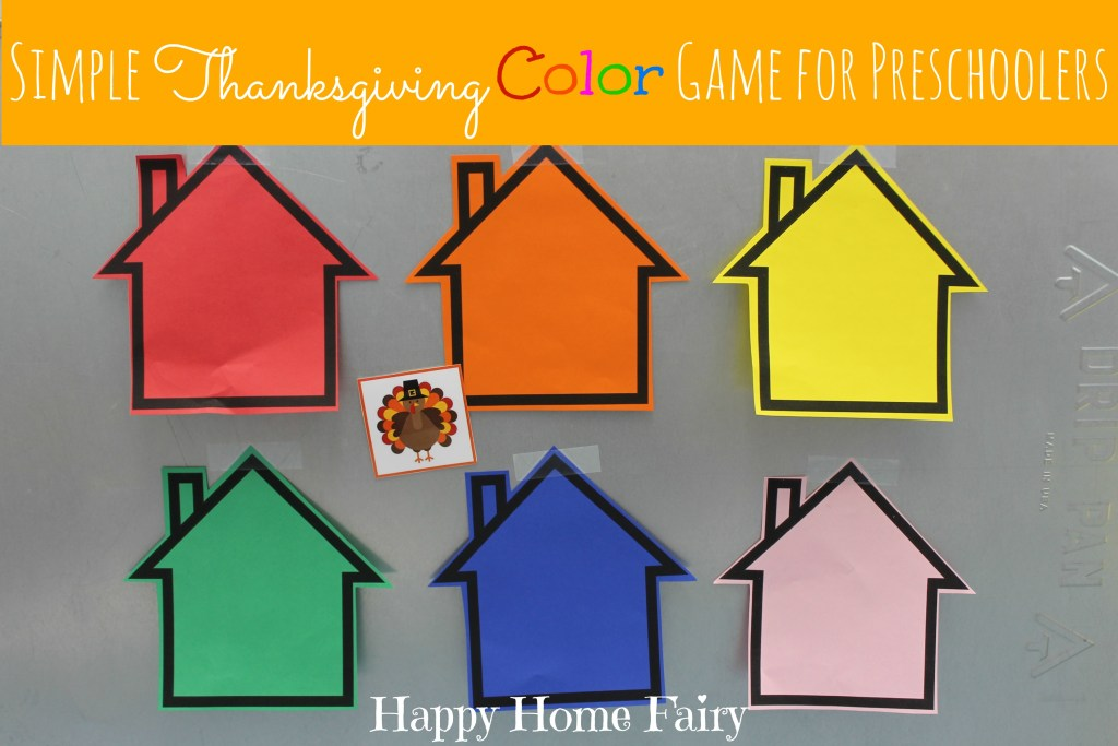 Simple Thanksgiving Color Game at Happy Home Fairy