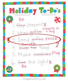 How to Have Christmas and Keep Merry – Send Peace