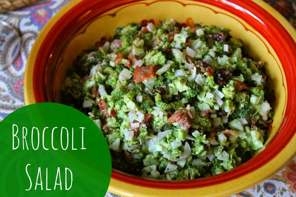 Broccoli Salad at happyhomefairy.com - a yummy dish to make for Christmas!