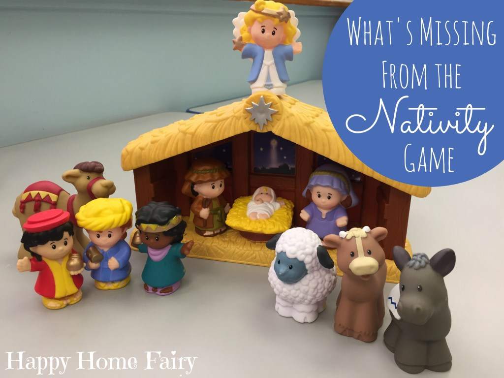 What's Missing From the Nativity Game for Preschoolers - so simple! The kids LOVE this game!
