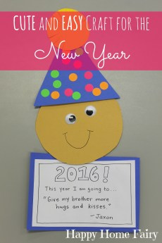 Easy New Year's Craft for Preschoolers