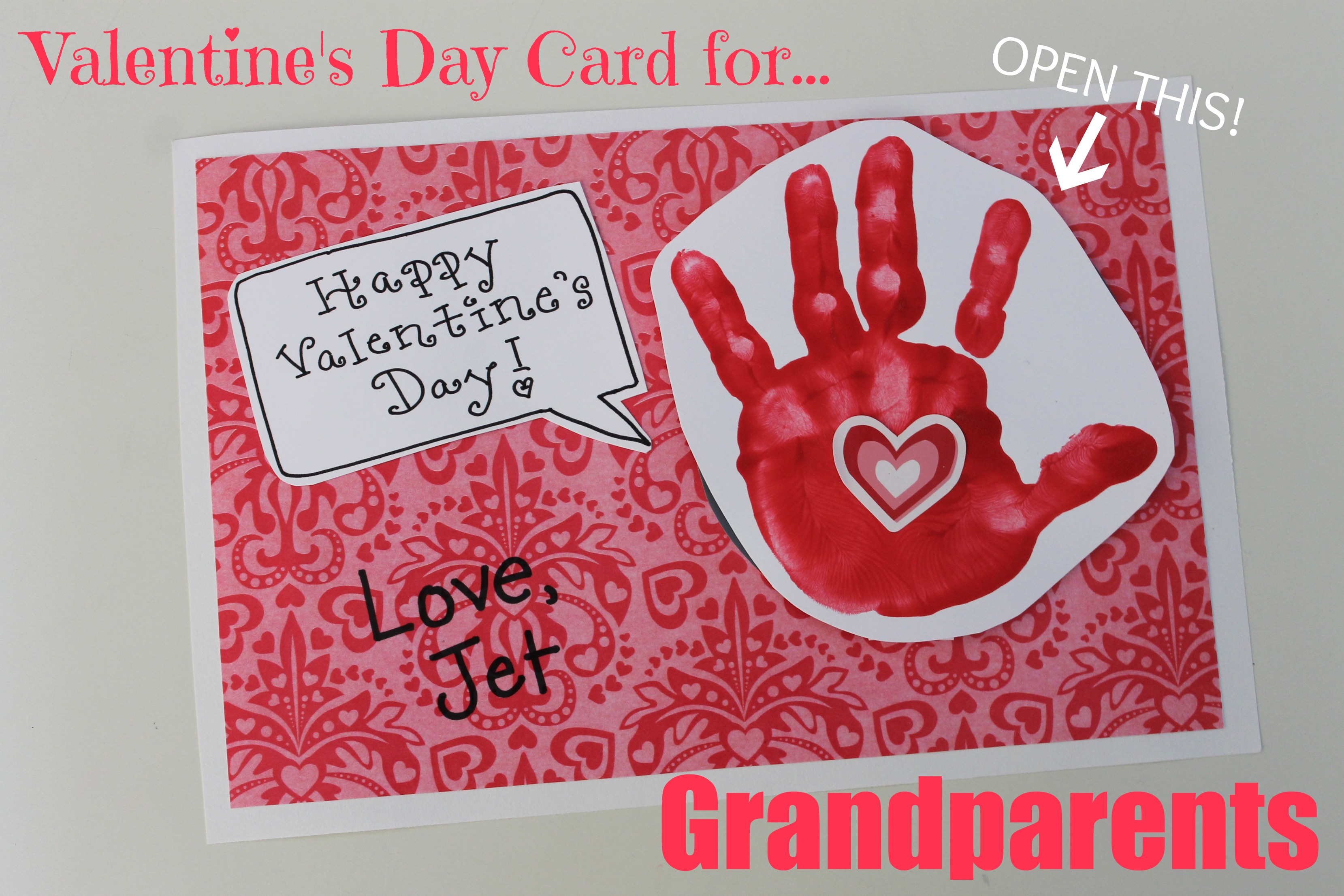 Valentine S Day Card For Grandparents