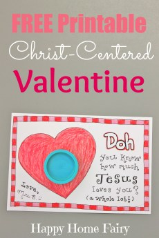 Christ-Centered Valentine – FREE Printable!