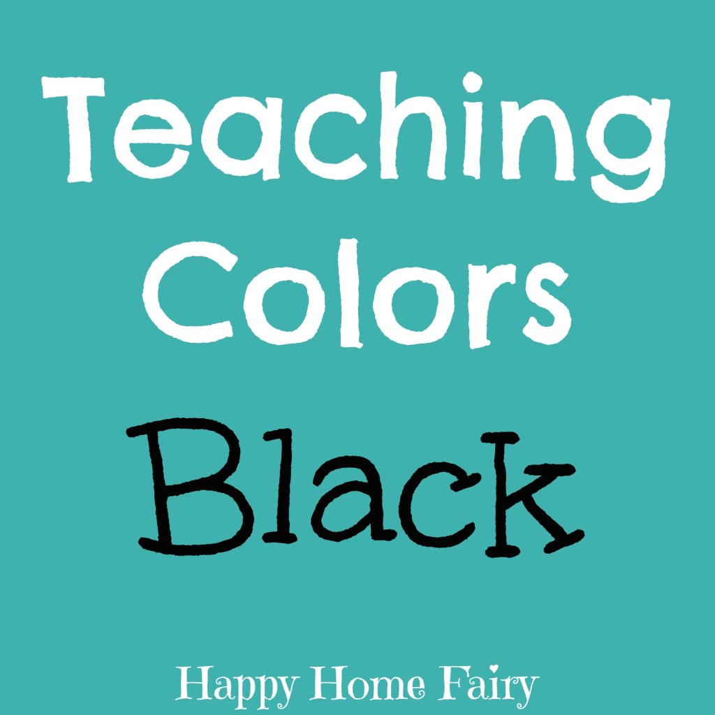 teaching colors - black