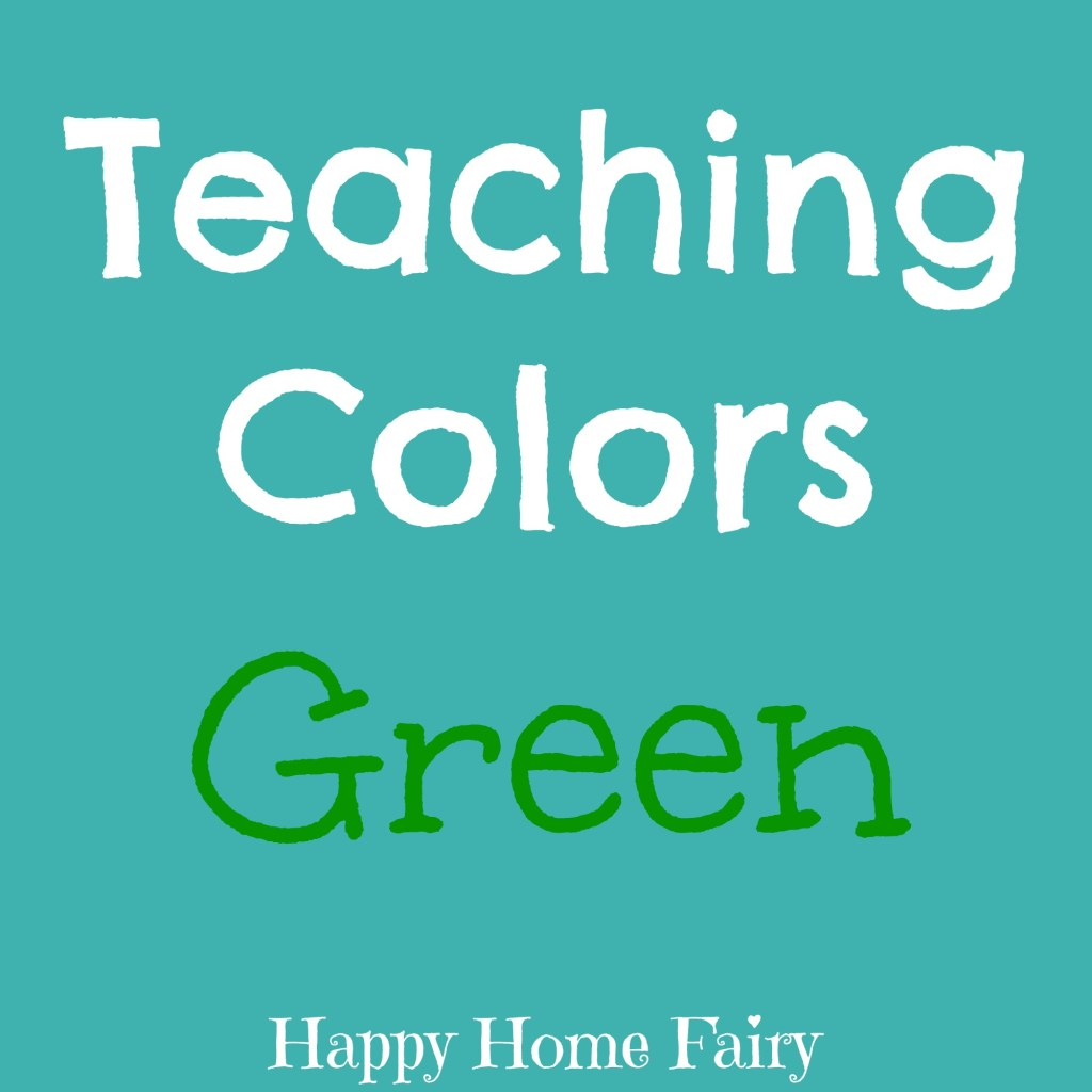 teaching colors - green