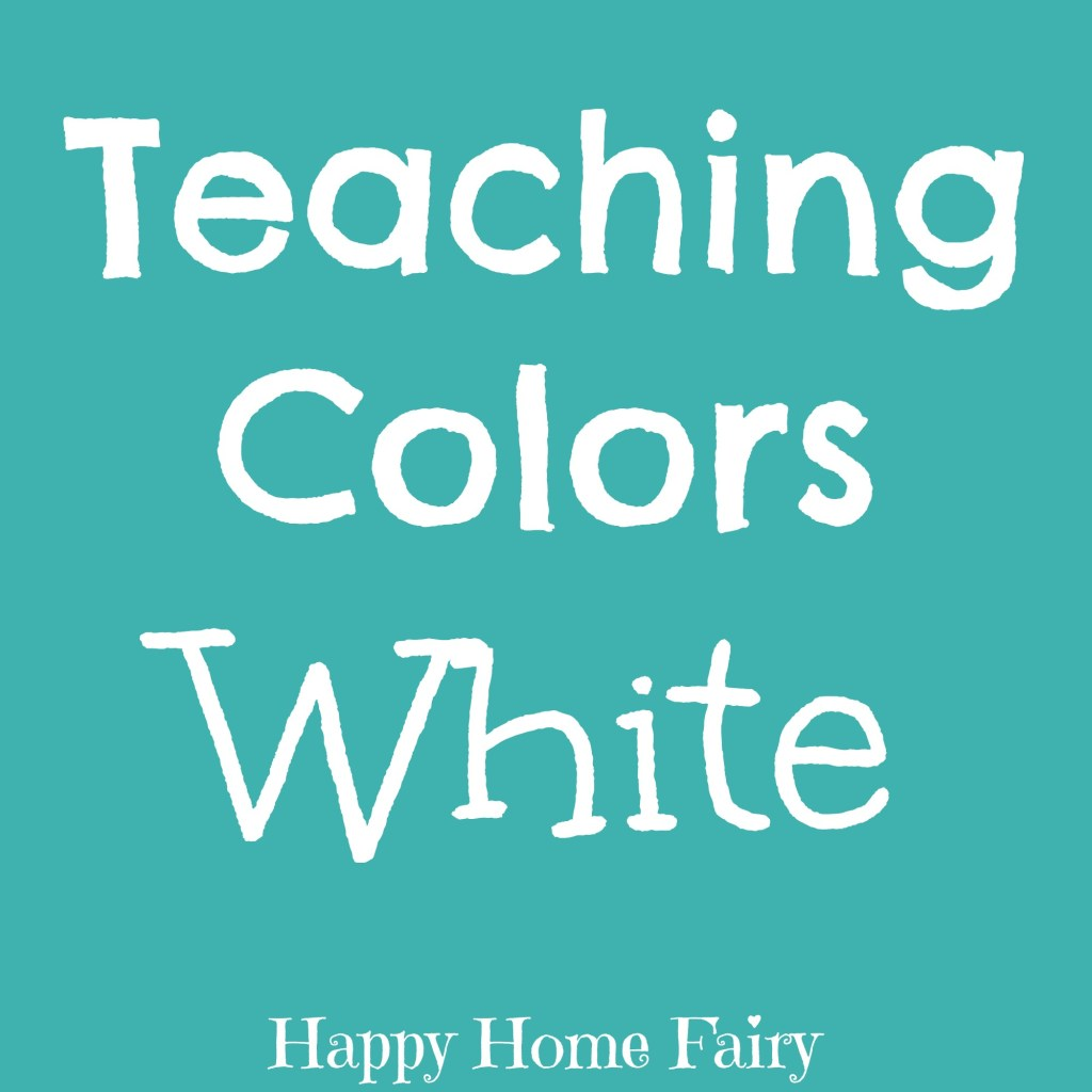 teaching colors - white