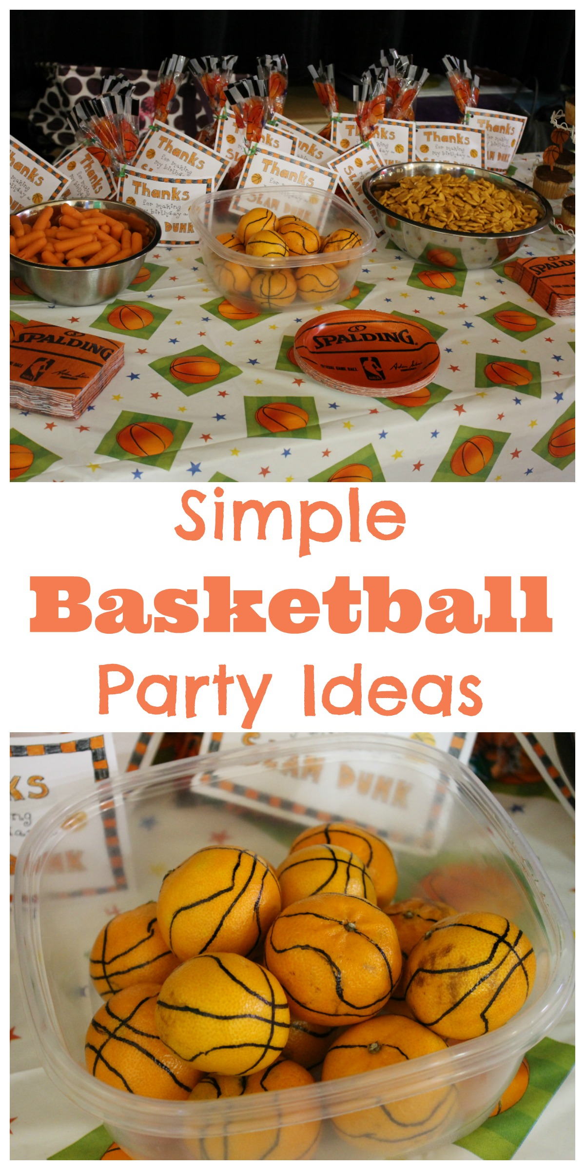 Simple Basketball Party Ideas Happy Home Fairy