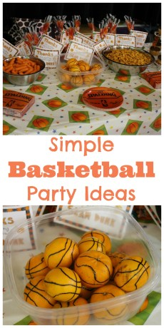 Simple Basketball Party Ideas
