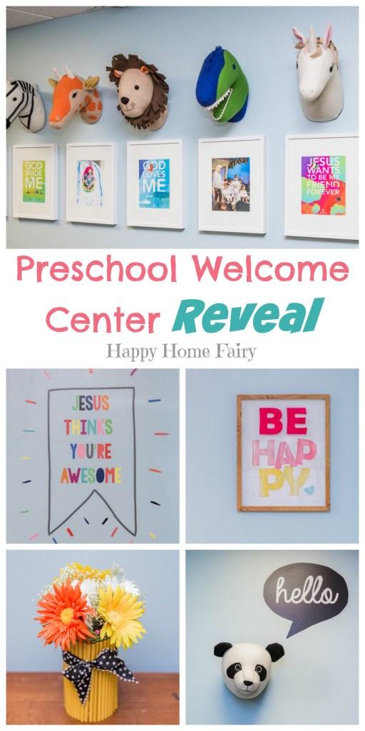 Preschool Welcome Center Reveal - SO many adorable ideas!