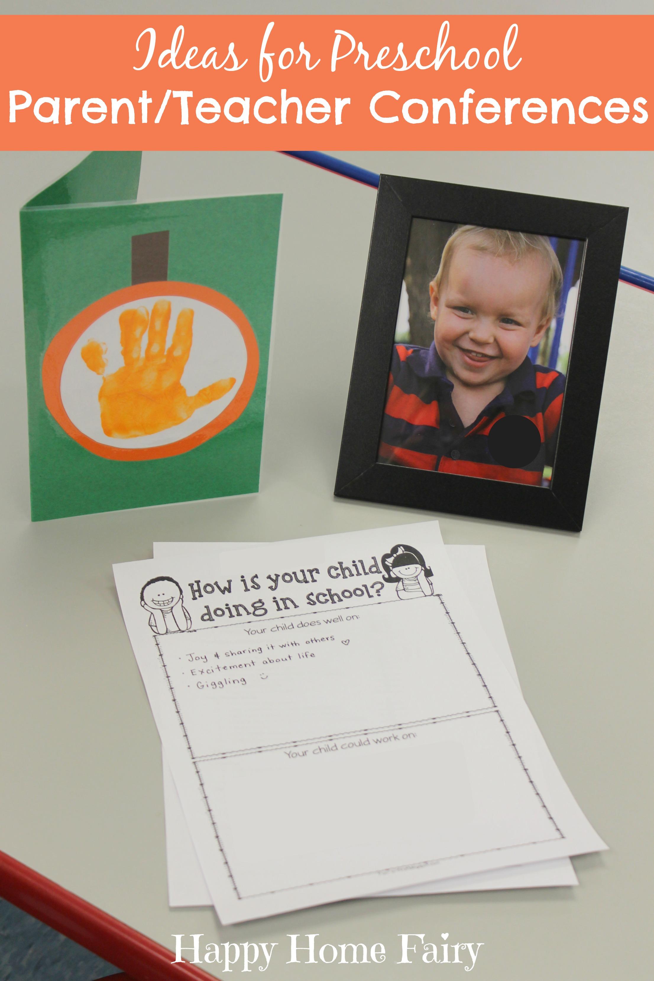 Ideas For Preschool Parent Teacher Conferences