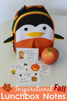Inspirational Fall Lunchbox Notes – FREE Printable