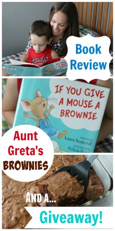 Recipe – Aunt Greta's Brownies, Book Review and GIVEAWAY!