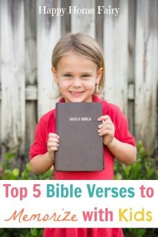 Top 5 Bible Verses to Memorize With Kids