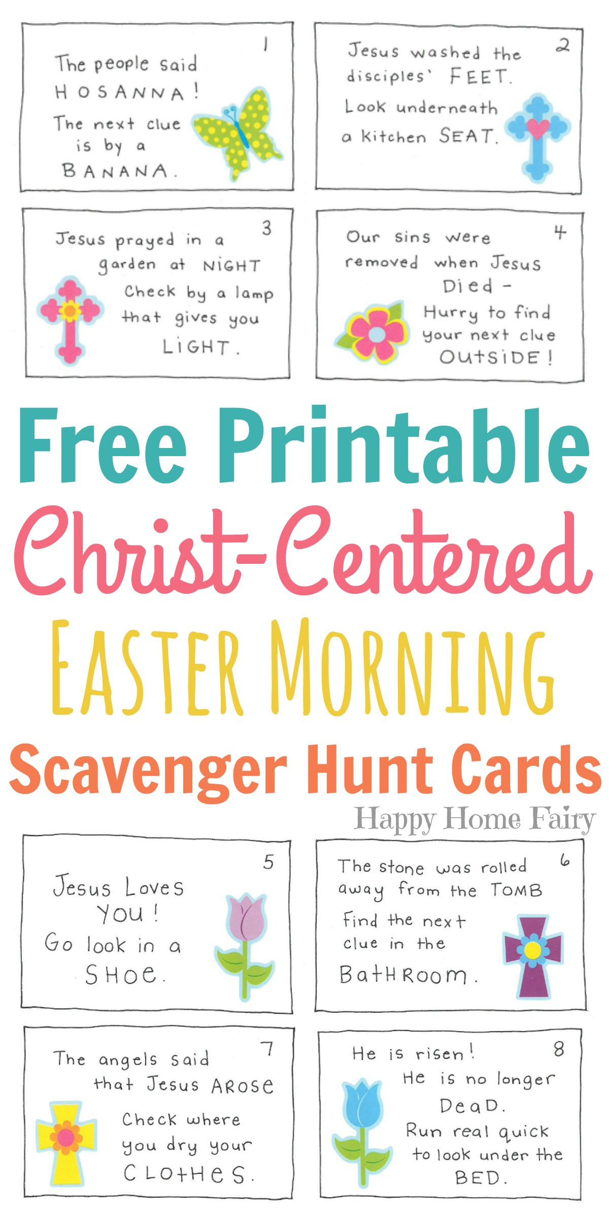 Christ Centered Easter Morning Scavenger Hunt For