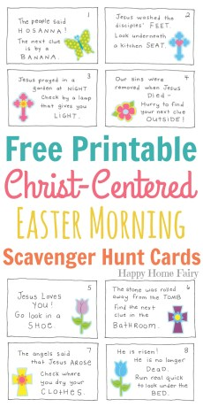 Christ-Centered Easter Morning Scavenger Hunt for Preschoolers – FREE Printable!