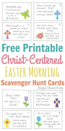 Christ-Centered Easter Morning Scavenger Hunt for Preschoolers – FREE Printable!