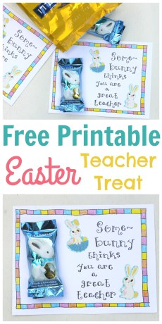 Easter Treat Tag for Teachers – FREE Printable