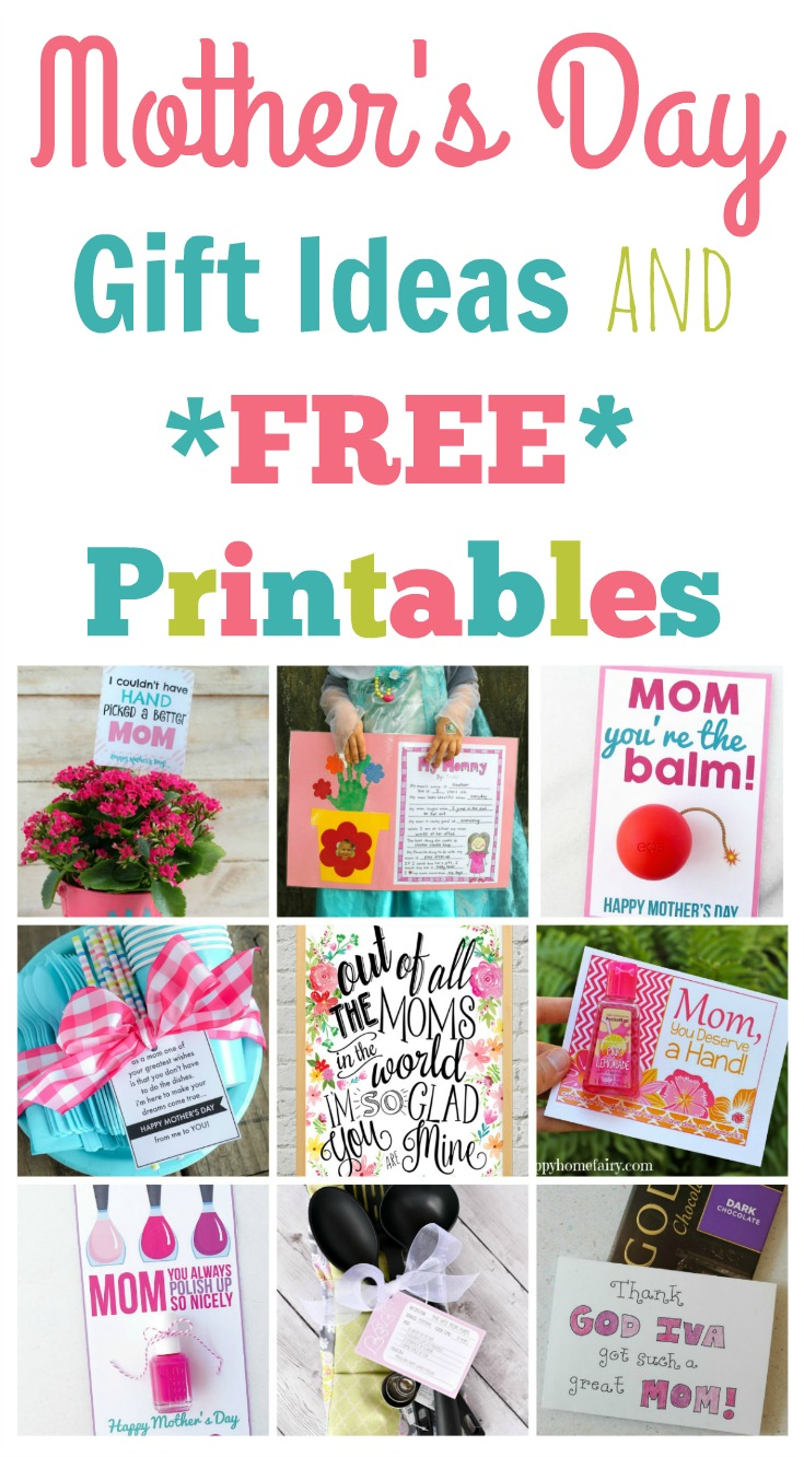 Quick And Easy Mother S Day Gift Ideas And Printables Happy Home