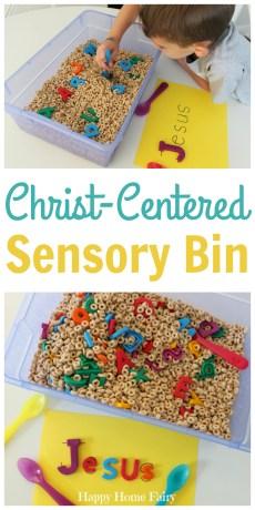 Easy Christ-Centered Sensory Bin and Activity