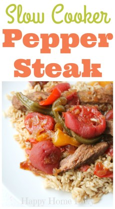 Recipe – Slow Cooker Pepper Steak