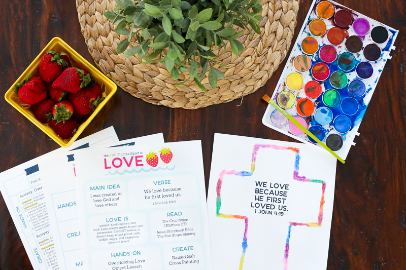 Looking for ways to point your kids to Jesus? This Fruit of the Spirit Kids Activities pack is full of simple ideas to teach kids what love is in an engaging way. This hands on study of Galatians 5:22-23 is aimed to help your family connect, play, learn, and grow in God's Word together.