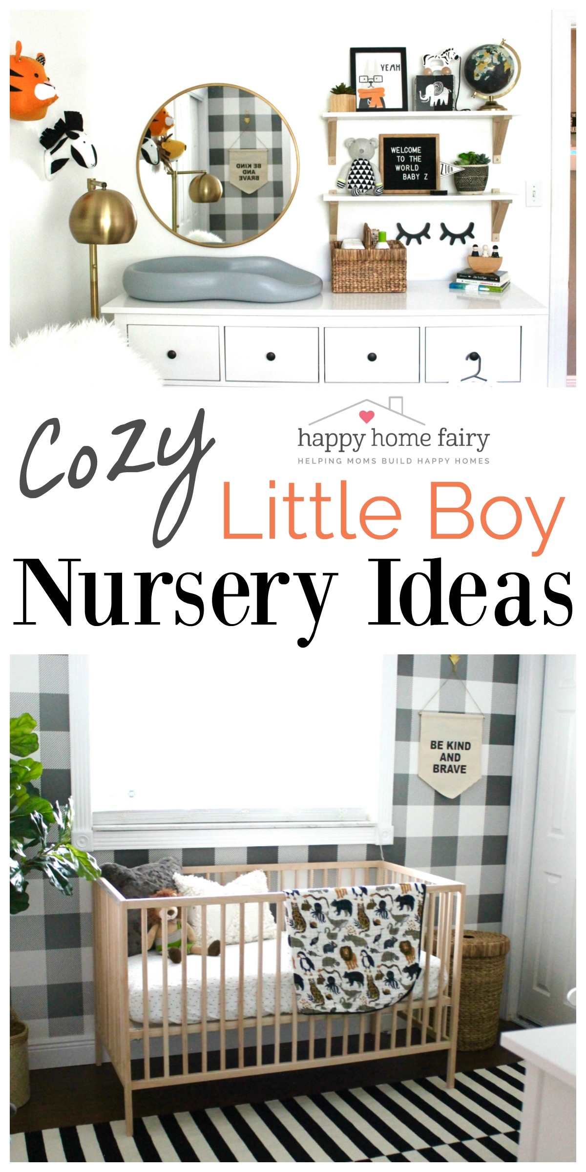 NURSERY REVEAL - Cozy Little Boy Nursery Ideas - Happy Home Fairy