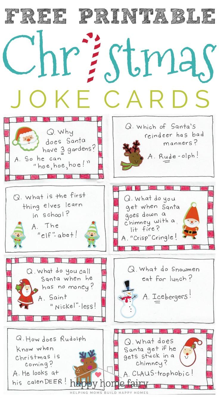 Fairy Jokes : fairy, jokes, Christmas, Cards, Printable!, Happy, Fairy