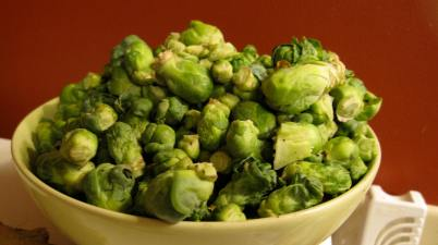 Brussels Sprouts (still more to pull off the plants though)